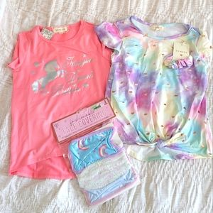 Girls tops and face masks